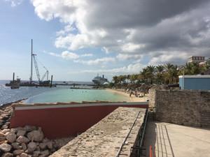 Opgepoten strand Rif Fort