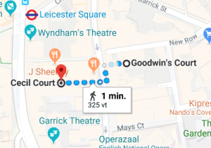 HP locatie Goodwins Court Cecil Court